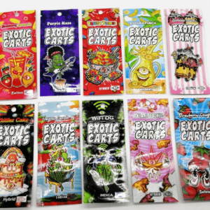 exotic carts packaging bags with carts